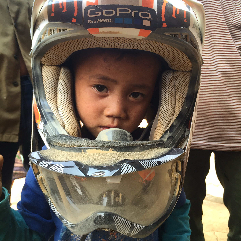 Moto au Laos enfants