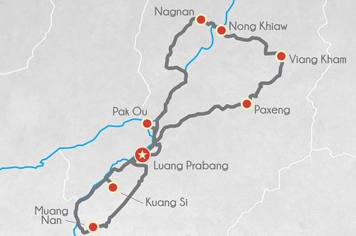 Tour moto au Laos 3jours débutants