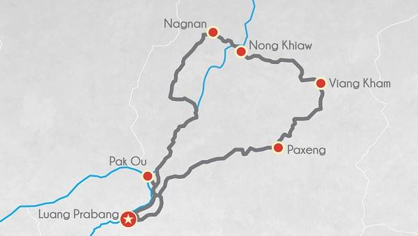 carte moto 2 jours Nong Kiaw